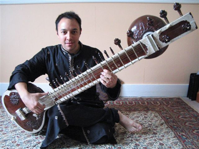 Traditional Sitar Player